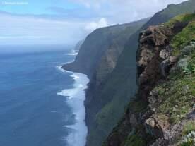 Die Steilküste an der Westspitze am Leuchtturm von Ponta do Pargo - Madeira (Februar 2014)