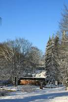 Winterimpression im Botanischen Garten, Lesehalle vom 28.12.2014