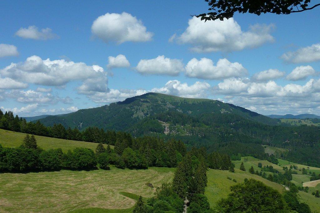 blick zum belchen mit 1414m h he der sch nste aussichtsberg im s dschwarzwald juni 2012. Black Bedroom Furniture Sets. Home Design Ideas