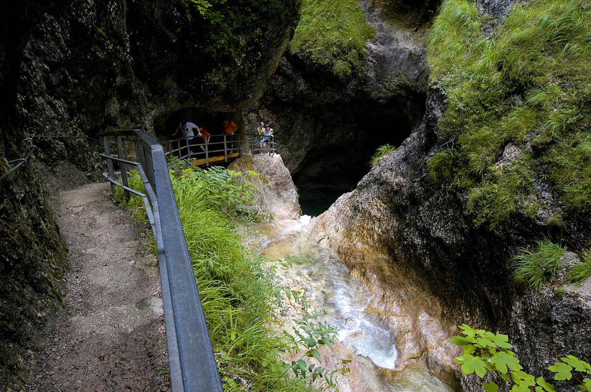 Almbachklamm im Berchtesgadener Land - Die Klamm wird ...