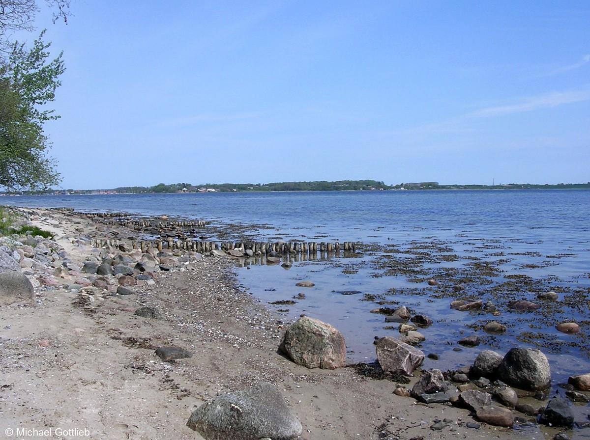 Briefe Nach Dänemark : Blick hinüber nach dänemark vom strand auf der halbinsel