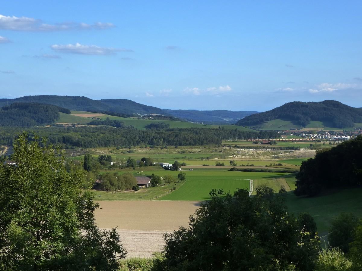 landschaft am hochrhein blick von wil im kanton aargau nach s den. Black Bedroom Furniture Sets. Home Design Ideas