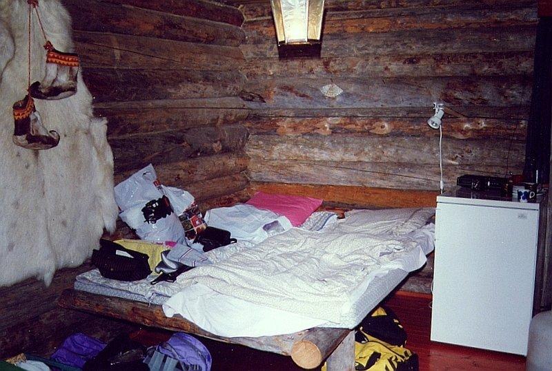 inneneinrichtung der blockhtte am jerisjrvi see hier das wohn schlafzimmer auerdem gabs noch ein schlafzimmer und natrlich eine sauna
