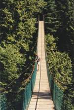Capilano Suspension Bridge in Vancouver.