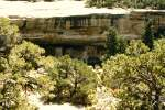Spruce Tree House im Nationalpark Mesa Verde am 18. August 1988.